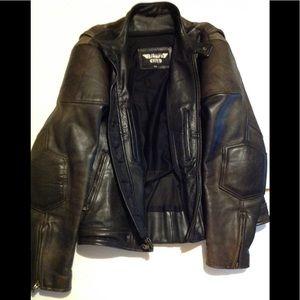 Men's Biker Club leather jacket XXL but fits XL